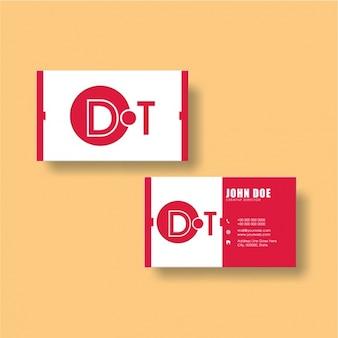 ピンクと白のコーポレートカードのデザイン