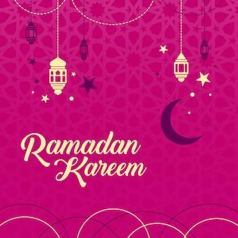 Pink backgorund ramadan design