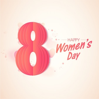 Pink background for women's day