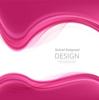 Pink background of wavy shapes