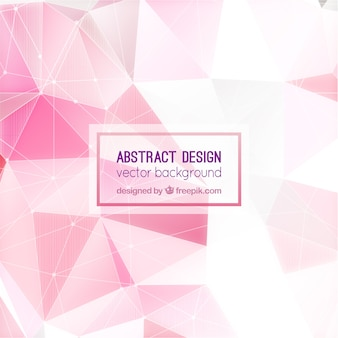 Pink background with abstract shapes