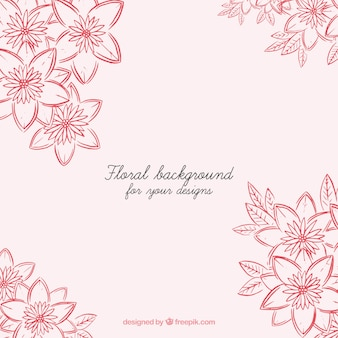 Pink background with beautiful decorative flowers