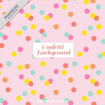 Pink background with confetti