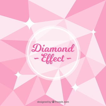 Pink background with diamond effect