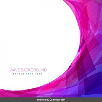 Pink background with wave
