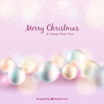 Pink blurred christmas background