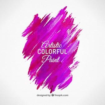 Pink brushstroke
