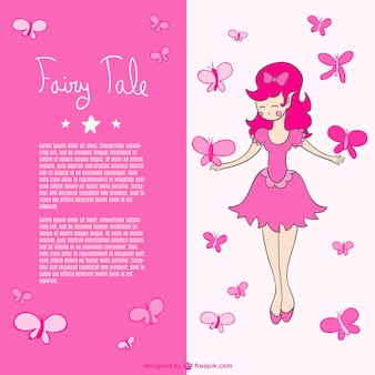 Pink butterflies fairy vector