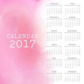 Pink calendar 2017