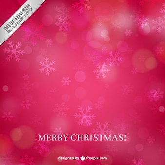 Pink Christmas Background with Snowflakes
