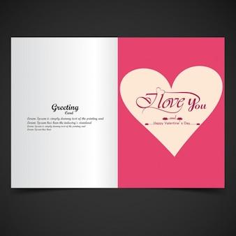 Pink color I love you card