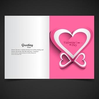 Pink color valentine greeting