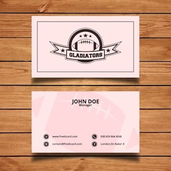 Pink corporate sports card
