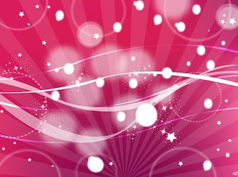 Pink cosmos background with dots
