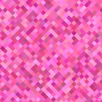 Pink diagonal square pattern background - geometrical vector illustration from squares