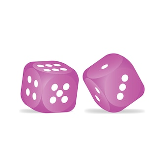 ピンクのダイス