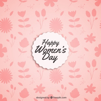 Pink floral background for women's day