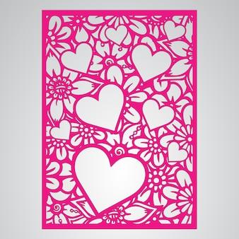 Pink floral card design