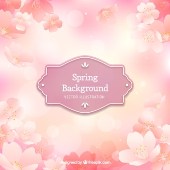 Pink floral spring background