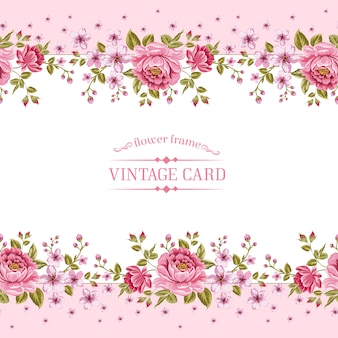 Pink floral template