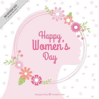 Pink floral womens day background