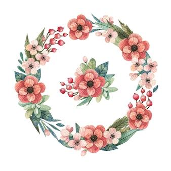 ピンクの花輪の背景