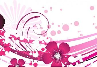 pink flower vector background