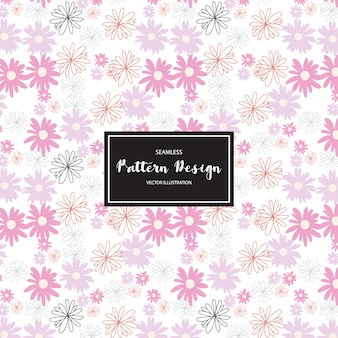 Pink flowers pattern background