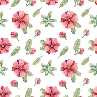 ピンクの花のパターンの背景