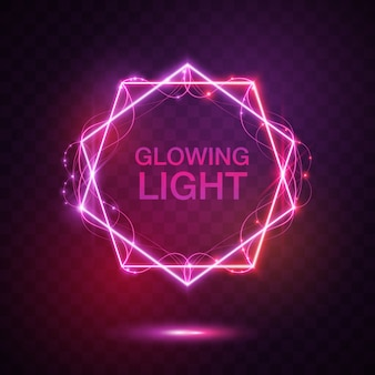 Pink glow light background