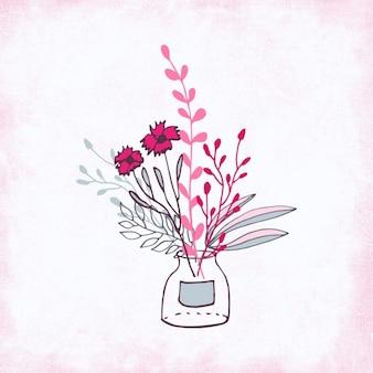 Pink hand made bouquet