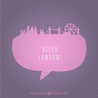 Pink London cityscape