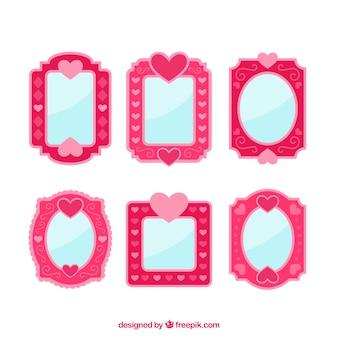 ピンクの愛フレーム