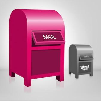 Pink mail box design