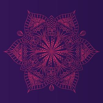 Pink mandala background design