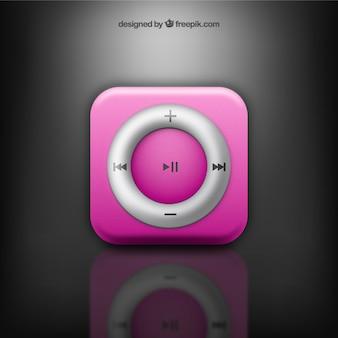 Pink music button