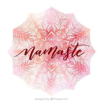 Pink namaste background
