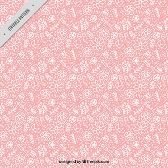 Pink pattern of white flowers