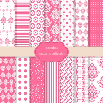 Pink patterns collection