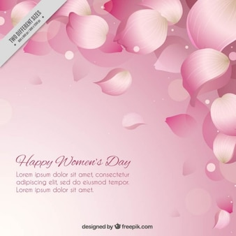 Pink petals women's day background