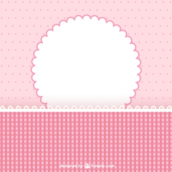 Pink photo frame for scrapbook