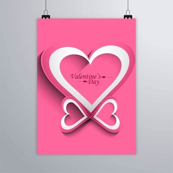 Pink poster with hearts