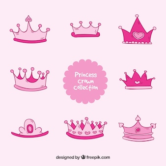 Pink princess crown collection