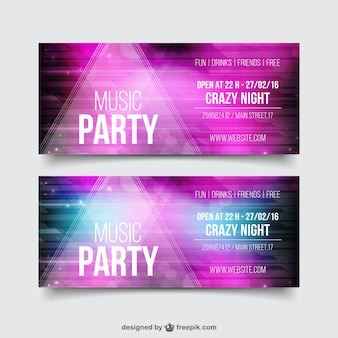 Pink Realistic Party Flyer Template Pack