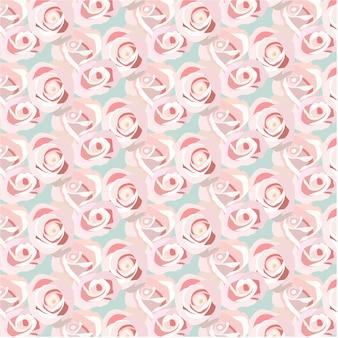 ピンクのバラのパターンの背景