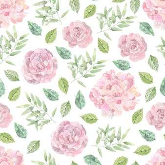 Pink roses pattern background