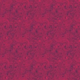Pink swirls and diamons pattern