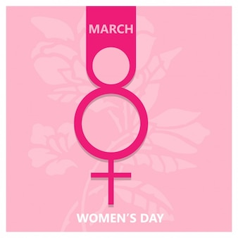 Pink symbol women's day background