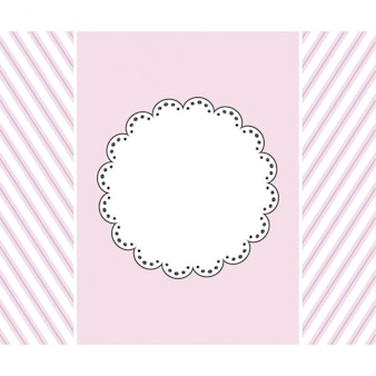 Pink template design for greeting card