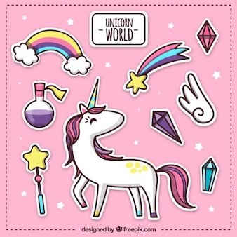 Pink unicorn world